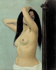 felix valotton,Femme nue regardant dans une psychè, 1906.jpg