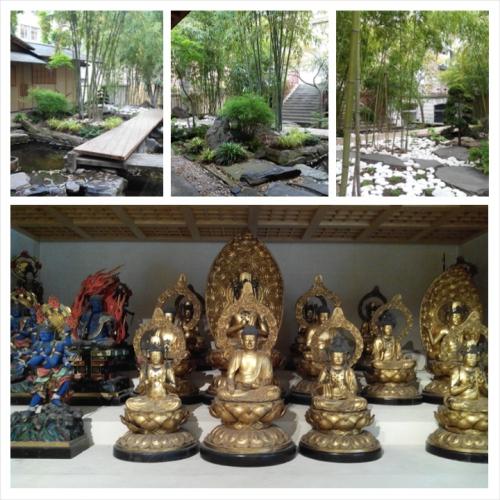 panthéon bouddhique, jardin japonais
